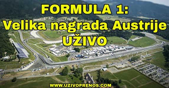 formula 1 trka za veliku nagradu austrije uživo prenos