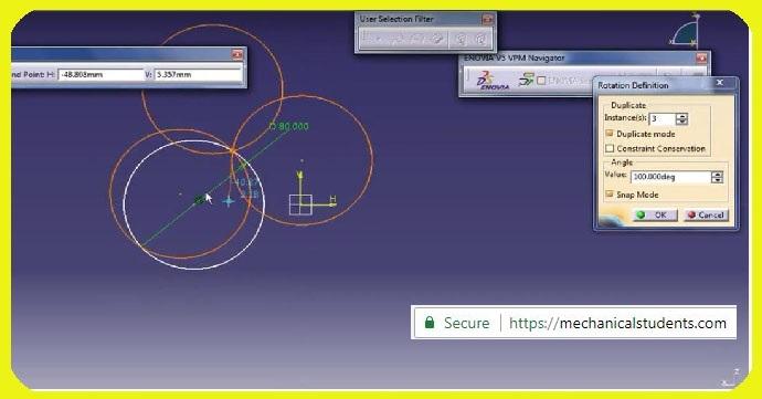 How to use Rotate Constraint in CATIA V5? | CATIA Tutorials