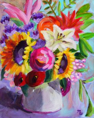 Birthday Bouquet by Merrill Weber