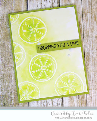 Dropping You a Lime card-designed by Lori Tecler/Inking Aloud-stamps from Concord & 9th