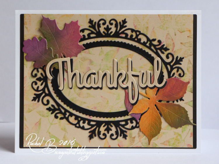 Scrapatout - Handmade card, Impression Obsession, Thankful, Leaves, Autumn