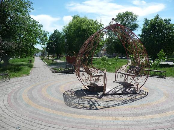 Геническ. Херсонская область. Проспект Мира. Пешеходная зона