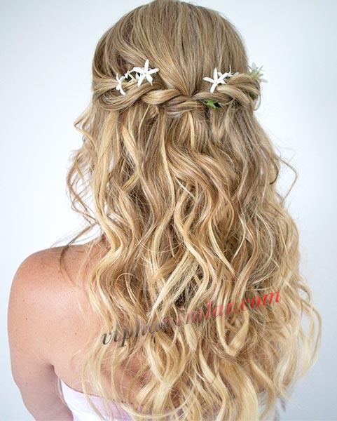 plaj partileri için saç modeli -www.viphanimlar.com