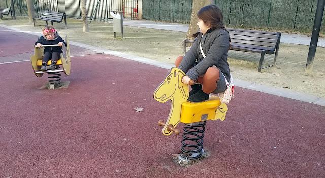 L'aire de jeux d'Antigone à Montpellier
