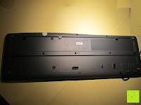Unterseite: Logitech K200 Tastatur USB schnurgebunden schwarz OEM (deutsches Tastaturlayout, QWERTZ)