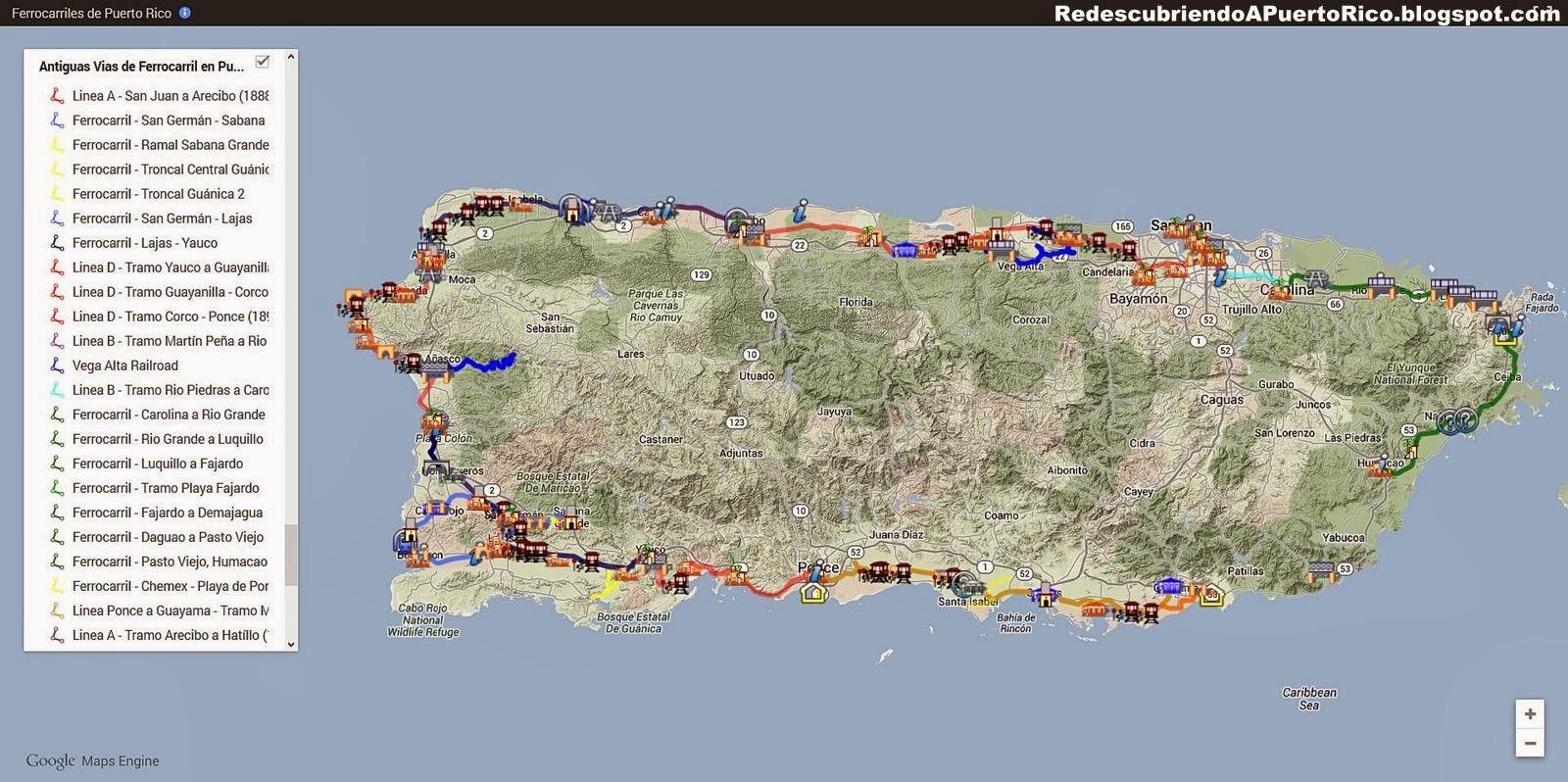 Trazando Los Antiguos Ferrocarriles De Puerto Rico En Google Maps