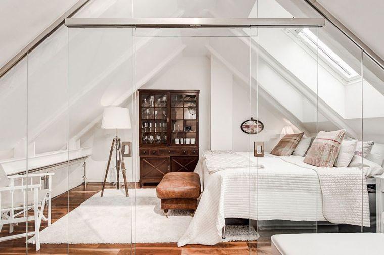 PUNTXET Un ático extremadamente elegante en Estocolmo #decor #decoracion #hogar #home #estilonordico #nordicstyle #bedroom #dormitorio