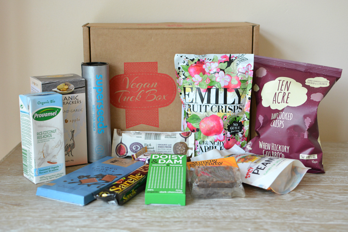 Vegan Tuck Box Review. A U.K. monthly subscription box of vegan snacks!