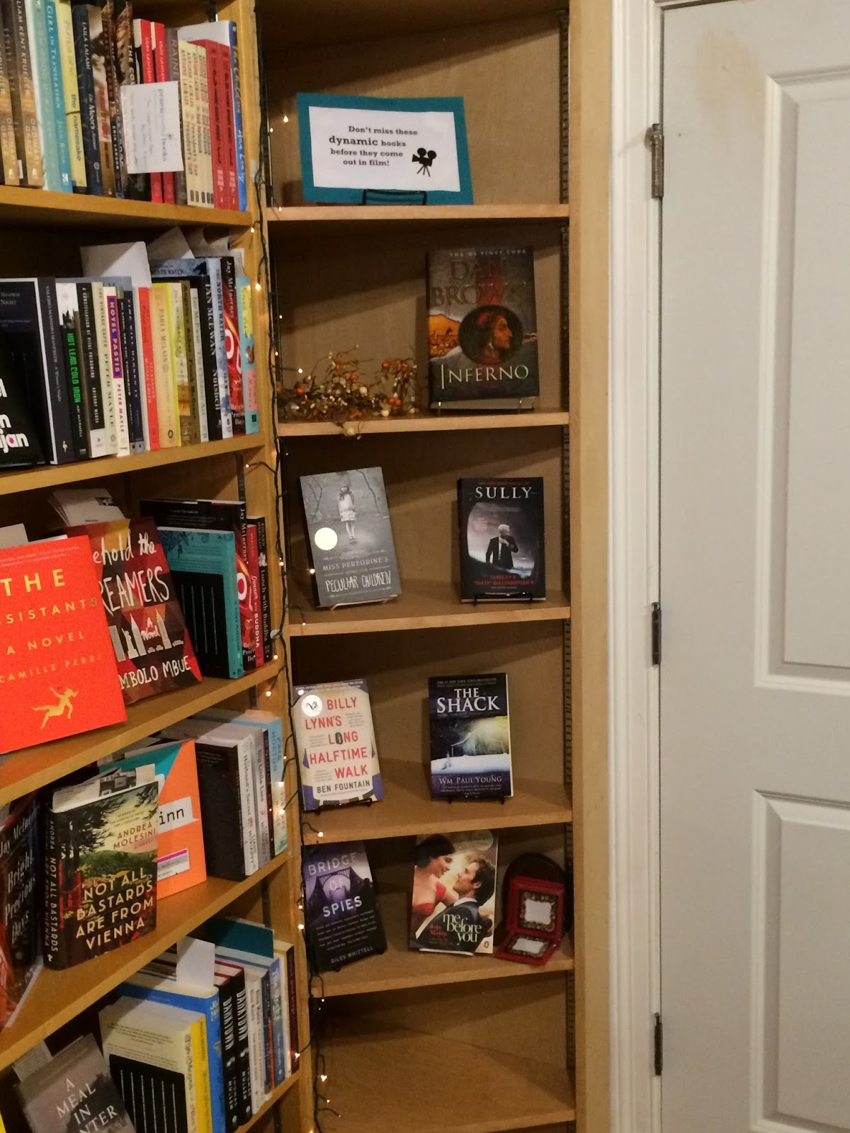 Display Of Books That Are Movies