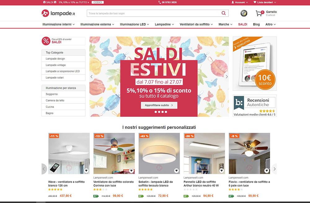 lampade.it shopping online lampade design e arredo