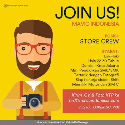 Lowongan Kerja Strore Crew Mavic Indonesia