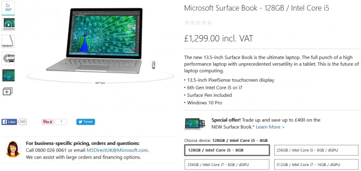 you can order the surface book from the microsoft store linked in the source as well as a few other retailers like amazon