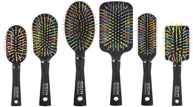 escovas para cabelo Rainbow Brush