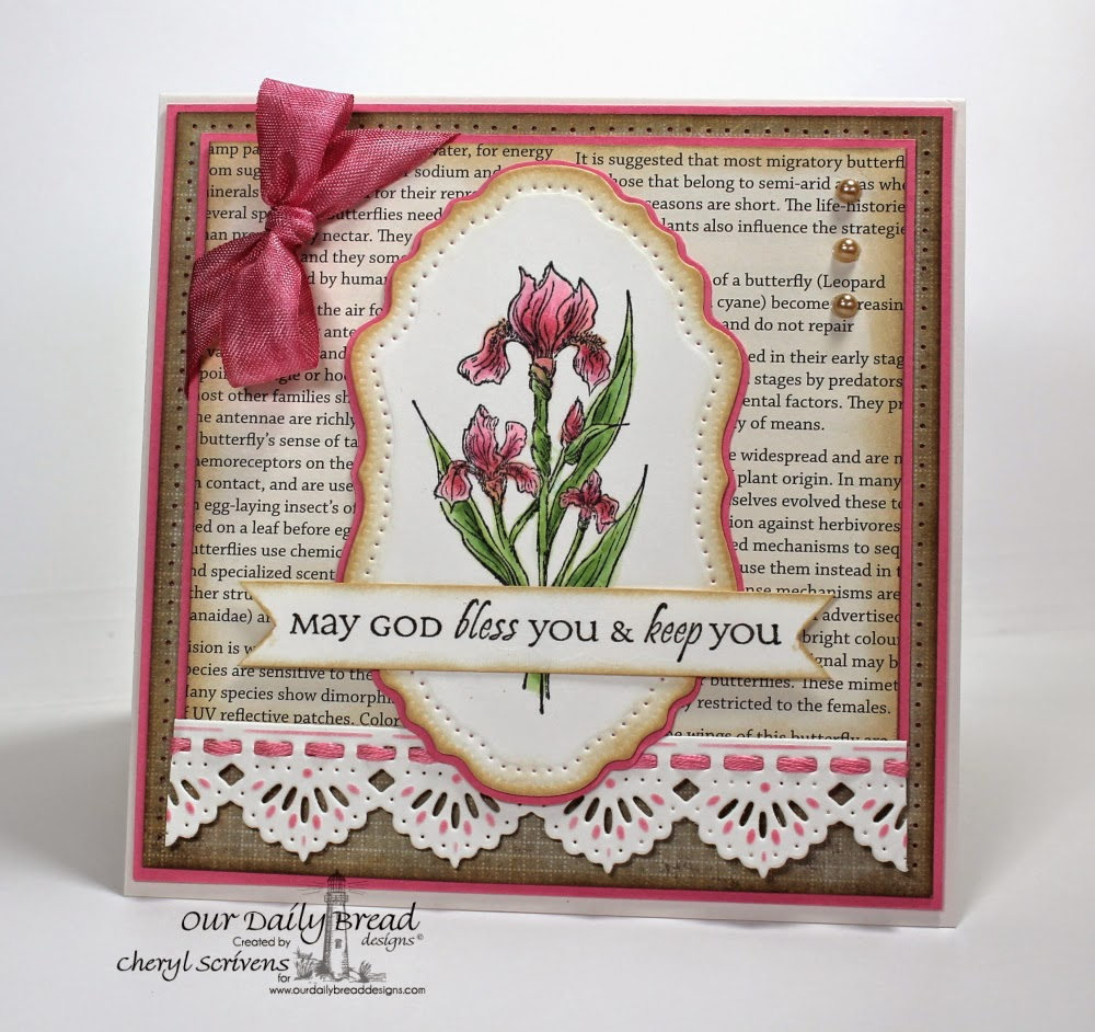 Our Daily Bread Designs, Iris, All Occasion Sentiments, Beautiful Borders, Vintage Flourish Pattern