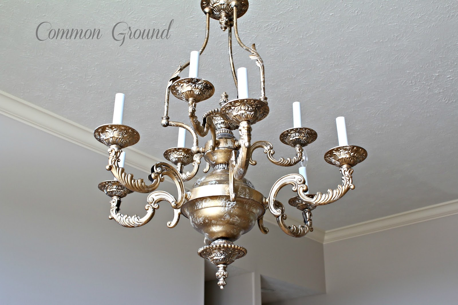 Great Faux Painted Chandelier