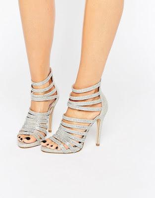 zapatos plateados para adolescentes