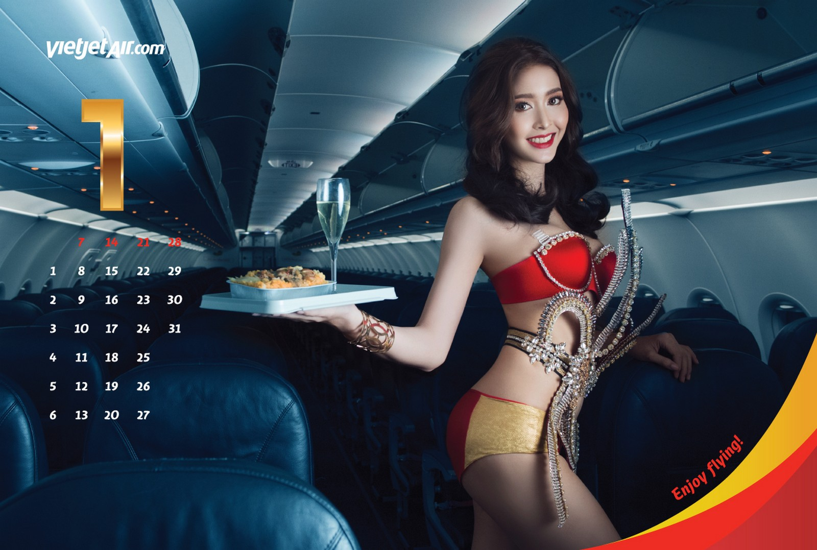 Vietnam's VietJet Aviation 'bikini' calendar, a marketing ploy featuring scantily clad female models.