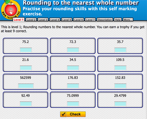 Rounding decimals exercise