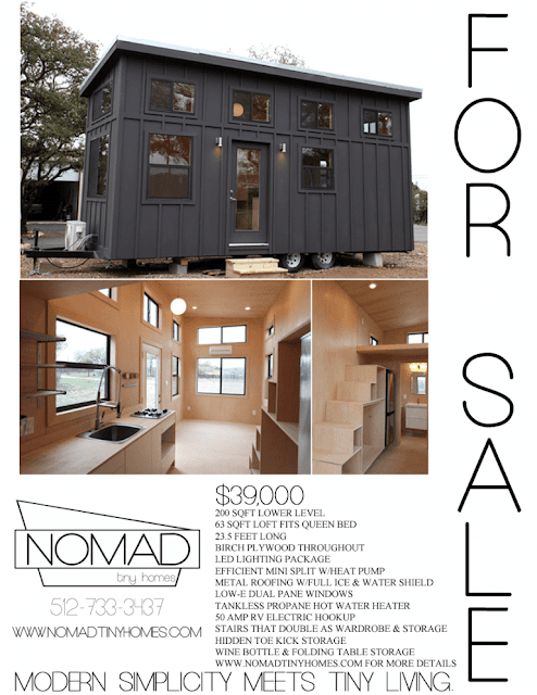 Black Pearl tiny house by Nomad Tiny Homes of Austin Texas