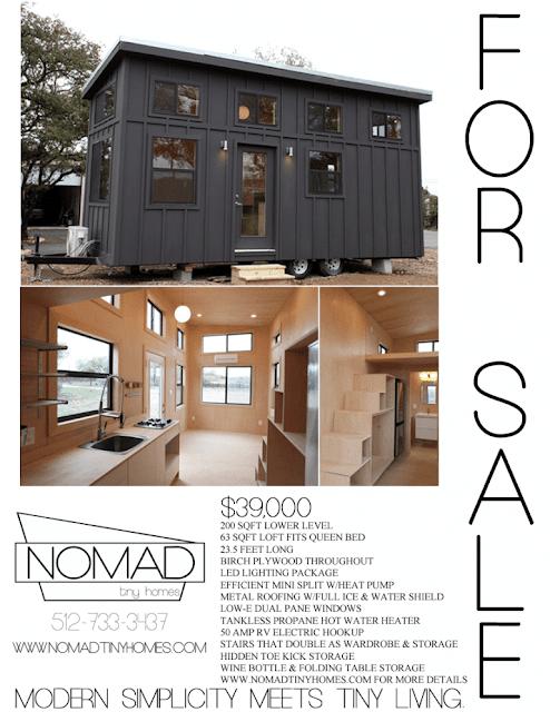 Black Pearl tiny house by Nomad Tiny Homes of Austin Texas