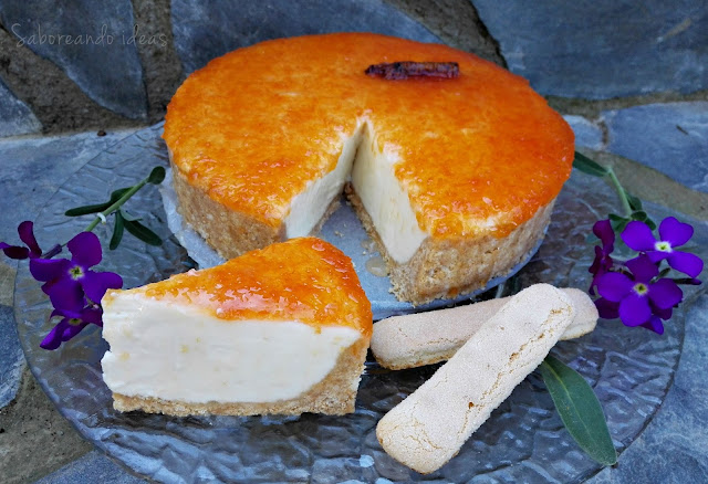 Cheesecake lady fingers y pomelo_Saboreando Ideas