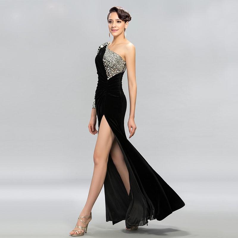 922f65317aa7 Abendkleid Meerjungfrau Kurz   Langarm. Abendkleid mit Rücken Dekollette  bis zum Po in Blau