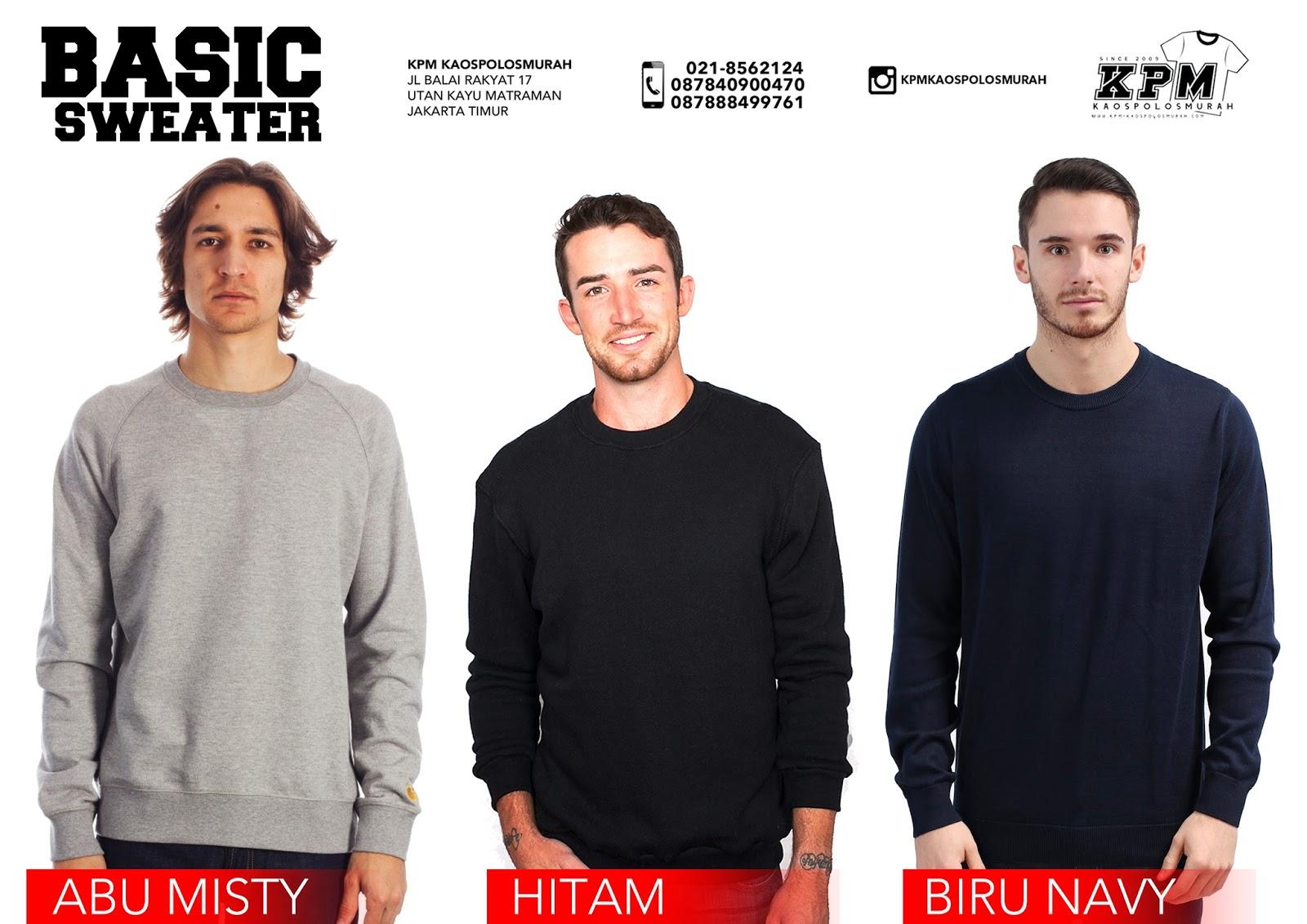 Kpm Kaos Polos Murah Supplier Combed Sablon Sweater Basic Oblong Hitam Jangan Ragu Untuk Mempercayakan Kebutuhan Anda Di Toko Kami Merupakan Sejak Tahun 2009 Sudah Berpengalaman Dalam