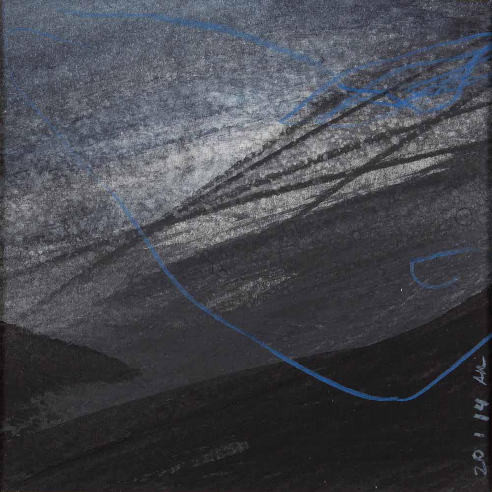 10 x 10 cm aquarelle et crayons sur papier, 20 jan 14