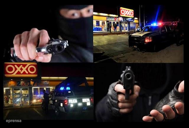 Tres asaltos a tiendas OXXO en un día