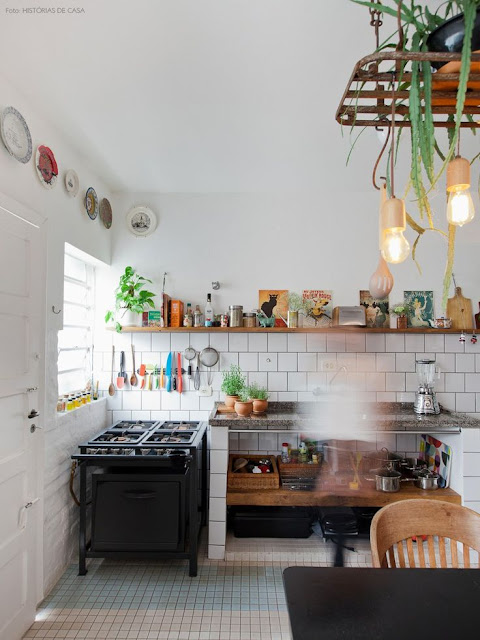 Kitchen With Antique Plates