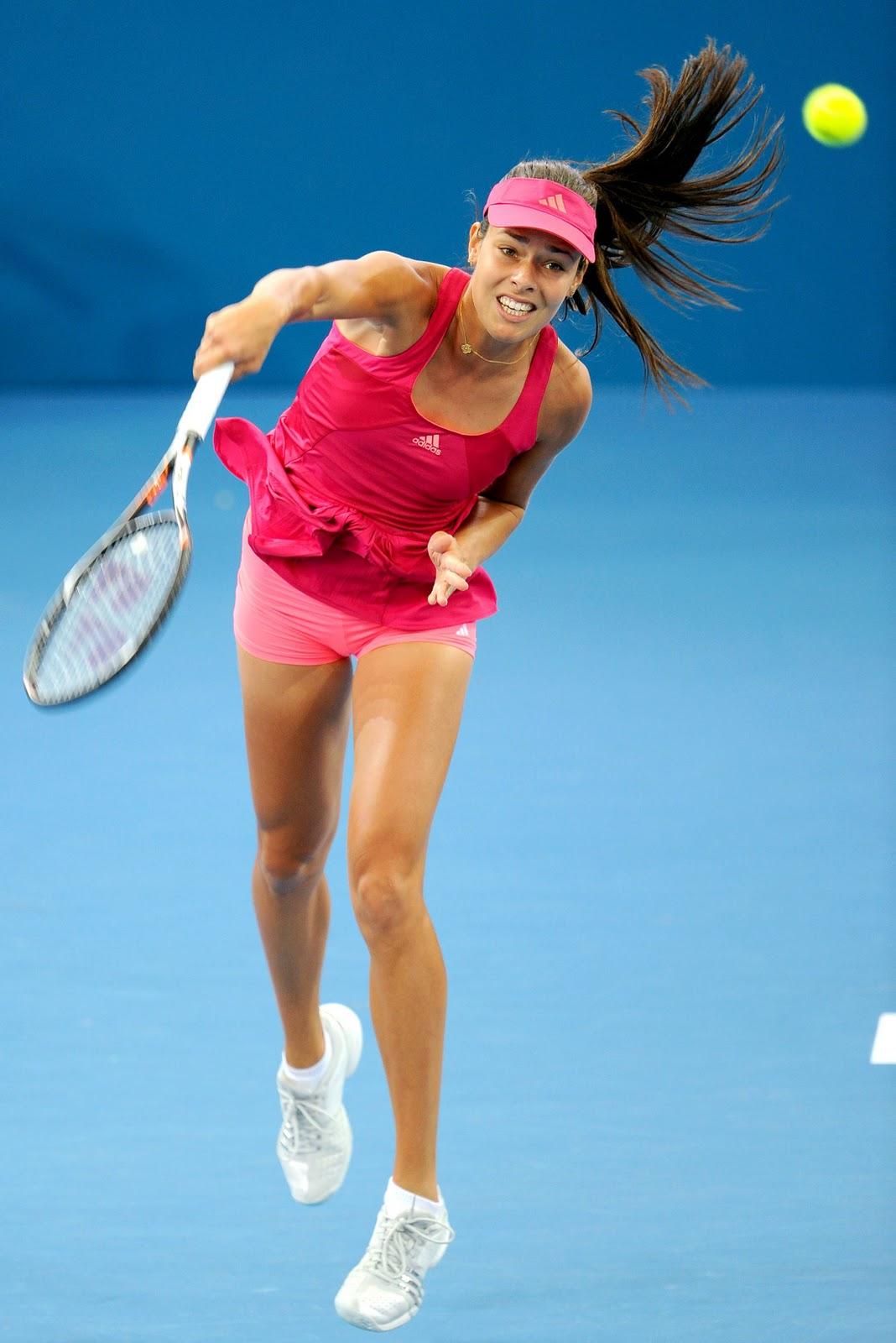 Wallpaper Tennis Girl Ana Ivanovic S Upskirt Shots In Brisbane International