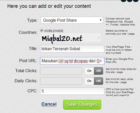 Cara Cepat Menambah Rekomendasi G+ PlusOne di Blog