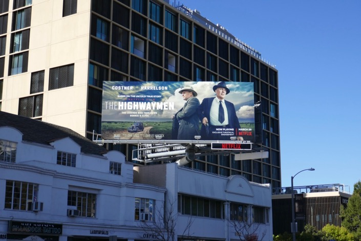 Highwaymen movie billboard