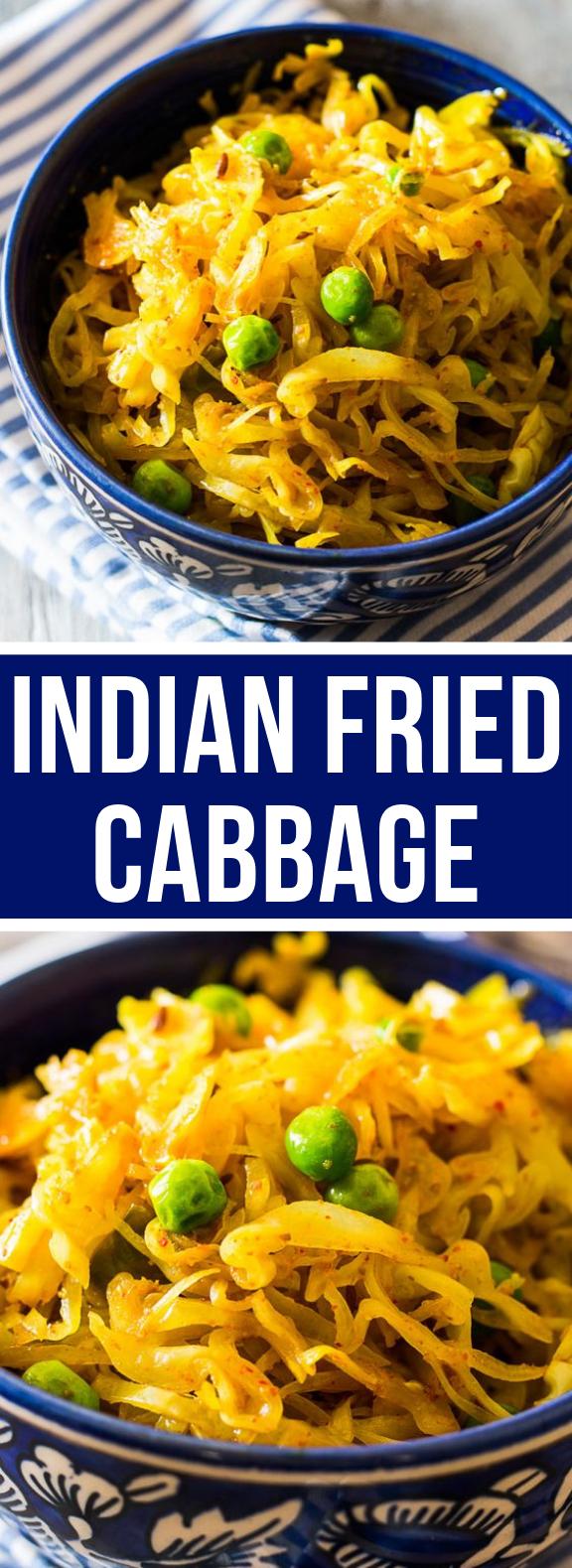 Indian Fried Cabbage #vegan #indianfood