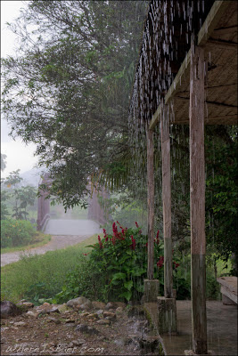 Torrential rain at the take out bridge, Chris Baer, colombia, Rio Putumayo