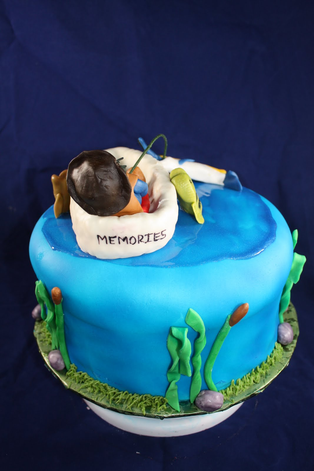 a birthday cake two sweet bakery 75th birtday fishing cake 1193