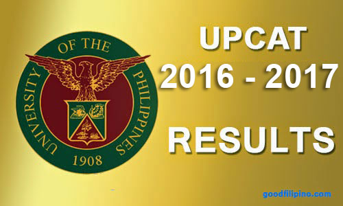UPCAT Results 2016 Online (AY 2016-2017)