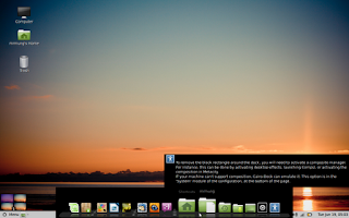 Background Hitam Cairo Dock Linux Mint