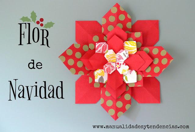 Cómo hacer una flor de navidad de papel