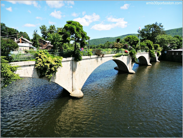Bridge of Flowers en el Río Deerfield, Shelburne Falls