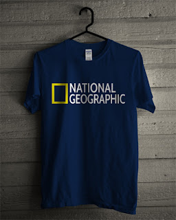 Baju Kaos National Geographic Warna Navy