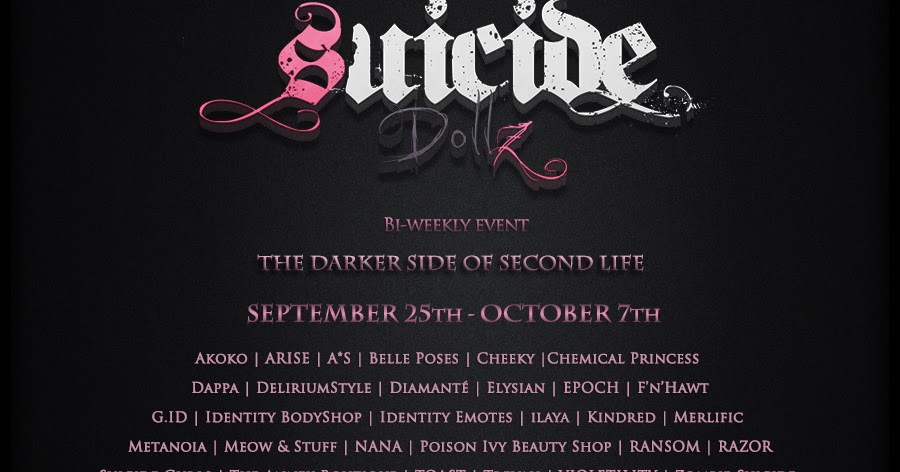 Explore Your Dark Side at Suicide Dollz from 1PM SLT Sep ...