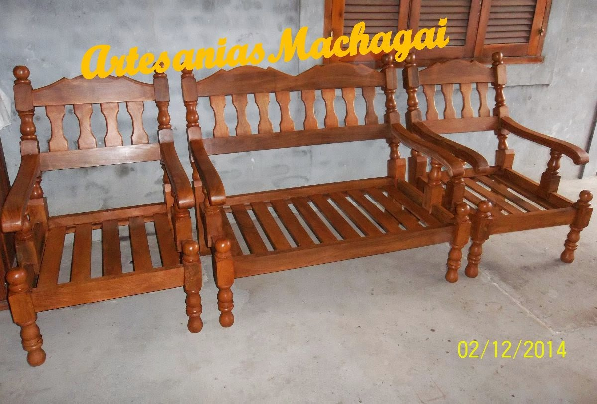 F brica de muebles y artesan as en algarrobo machagai for Mueble de algarrobo para living