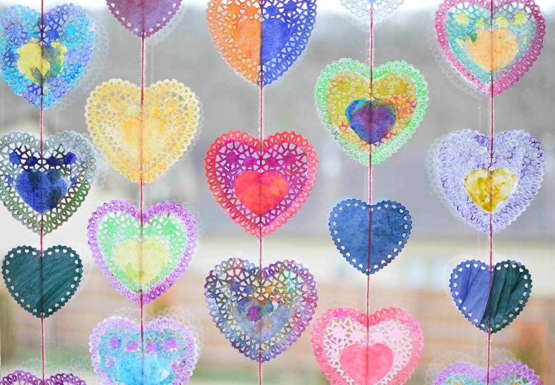 valentine suncatchers