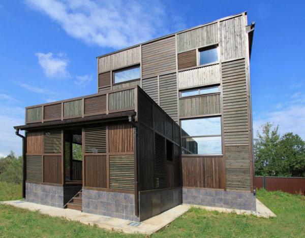 Hogares frescos casa rusa con un interesante patchwork - Casas de patchwork ...