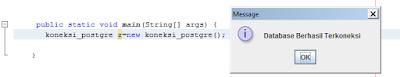 Kelas Informatika - Koneksi Database PostgreSQL Berhasil