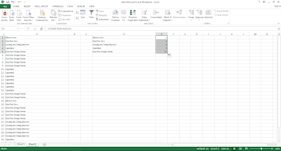 COUNTIF Function example in Excel 2016