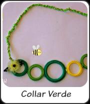 Collar de arandelas verde