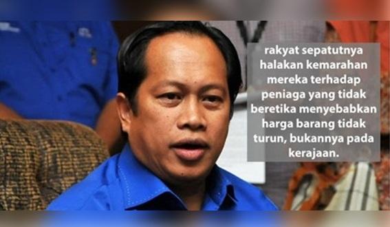 Harga Barang Naik Selepas GST, Rakyat tak Boleh Salahkan Saya Tetapi Kena Marahkan Peniaga Yang Tak Turunkan Harga Jualan