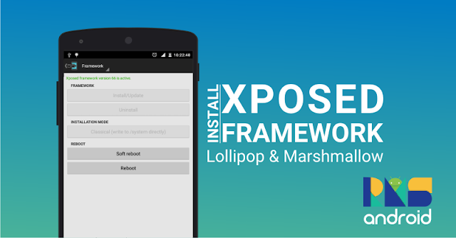 Instal Xposed installer di android lollipop